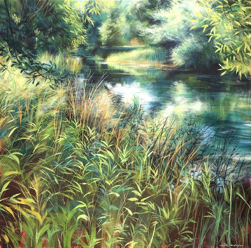 'Bracelia'. Acrylic on canvas 81x81 cm. Nick Andrew