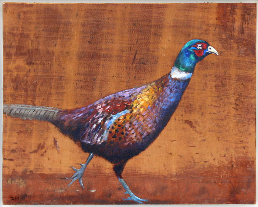 'Heracles' Oil on reclaimed wood 35 x 28cm - Tanya Hinton