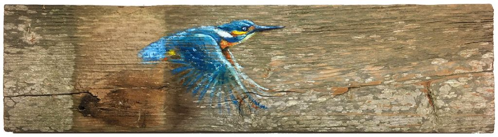 'Nymph' Oil on wood. 39x10cm. - Tanya Hinton