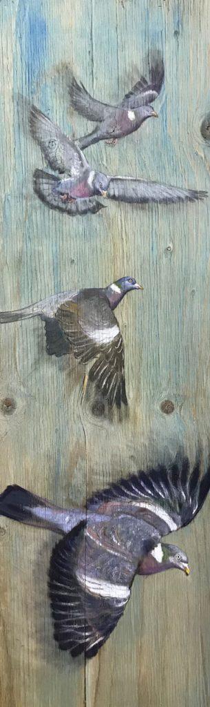 'Palumbi' Oil on wood. 97x32cm - Tanya Hinton