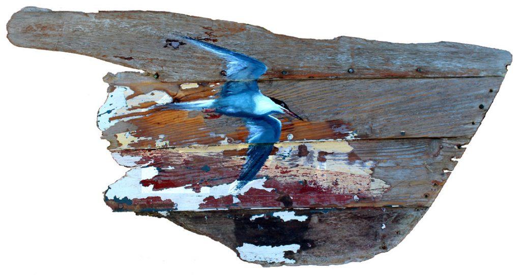 'Stearnan' Oil on reclaimed wood. 88 x 60cm. - Tanya Hinton