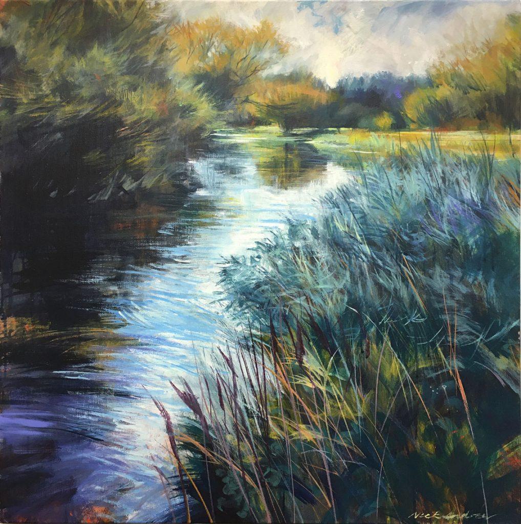 'Filaesca'. Acrylic on canvas 61x61 cm. Nick Andrew