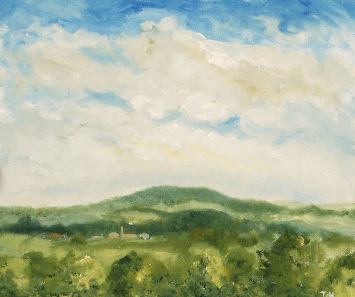 Duncliffe Study 1 - Oil on Canvas Board - Tanya Hinton