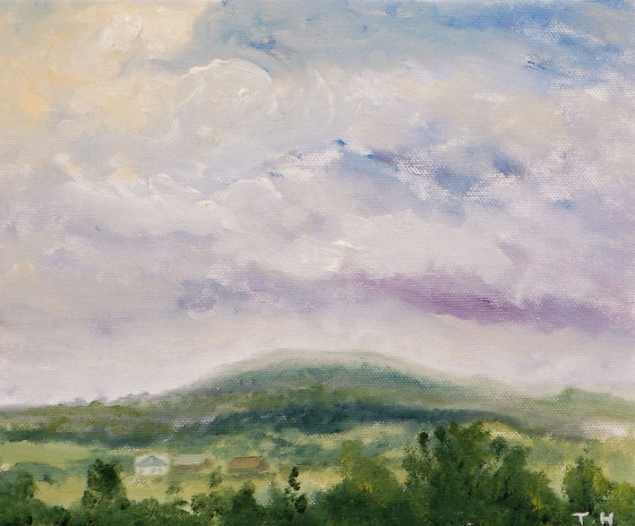 Duncliffe Study 2 - Oil on Canvas Board - Tanya Hinton