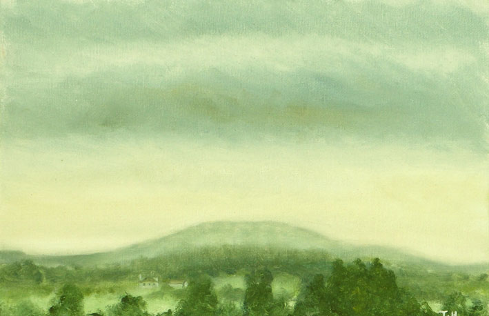 Duncliffe Study 3 - Oil on Canvas Board