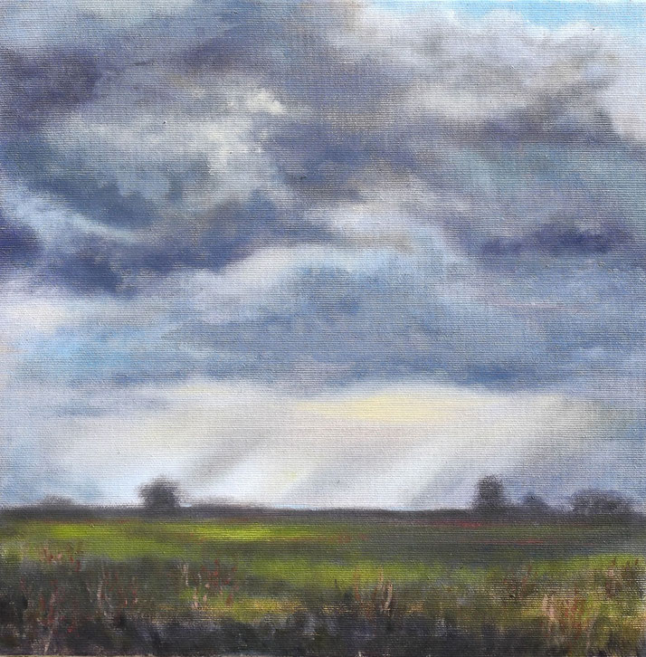 Sky with Violet - Oil on Canvas - Tanya Hinton