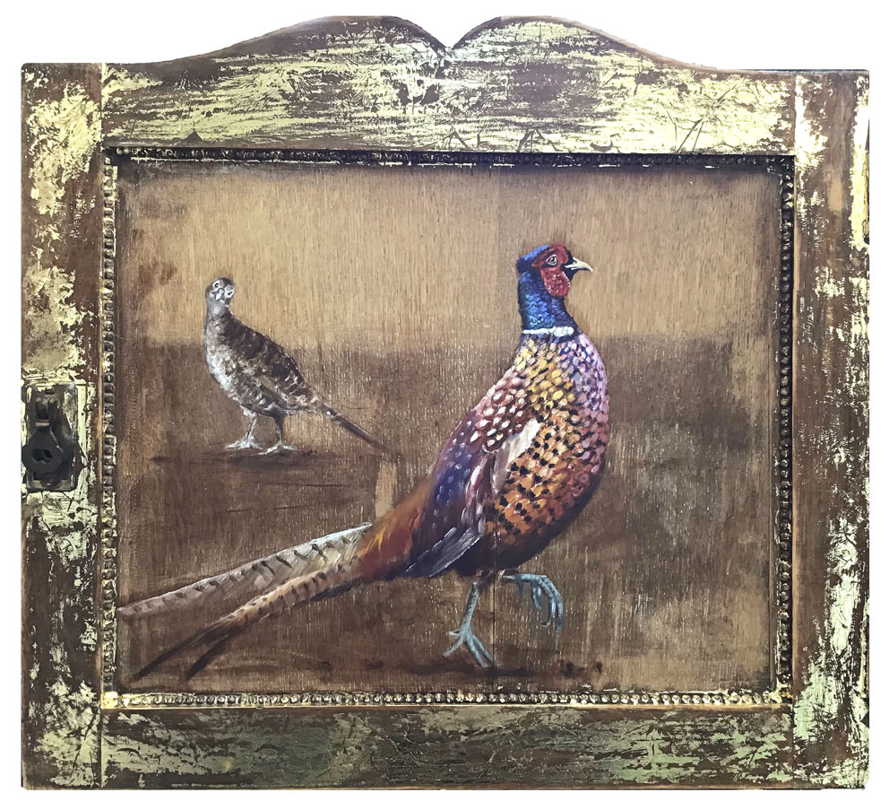 'The Courtship' oil and gold leaf on wood panel 51x46cm - Tanya Hinton